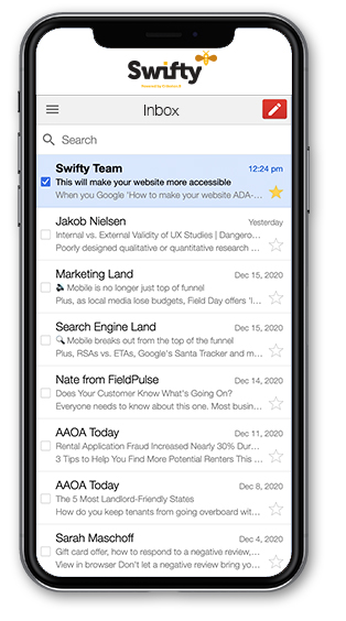 email mobile view